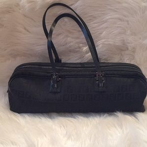 Fendi black canvas Zucchino bag 🇮🇹